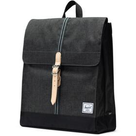 Herschel City Mid-Volume Backpack 14L, black crosshatch/black